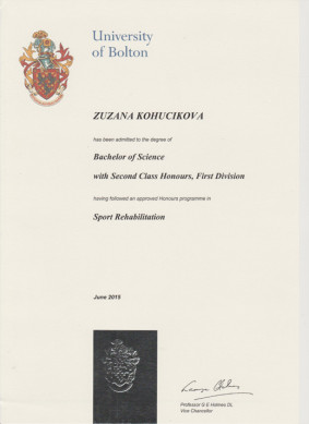 Bachelor of Science - Sport Rehabilitation