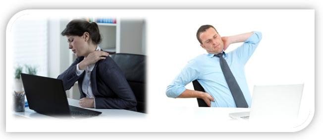 Massage für eine sitzende Tätigkeit